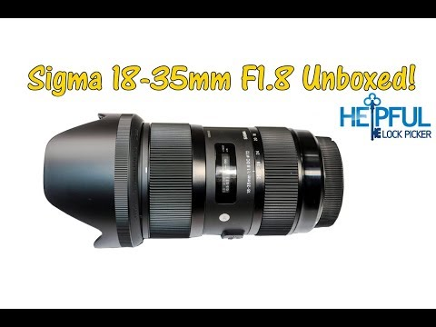 [185] Sigma 18-35mm F1.8 Unboxing and Auto Focus Noise Test