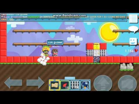 Growtopia-Nooblara Yardim Ediyorum!-MiniBordo Sevinçten Havaya Uçtu!