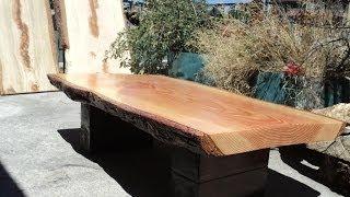 Mesa maciza madera de de patas