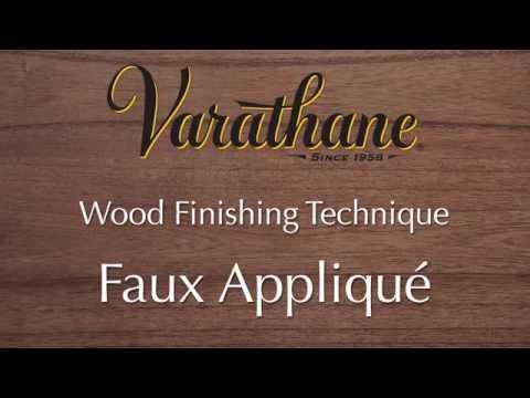 Varathane Wood Finishing Technique - Faux Applique