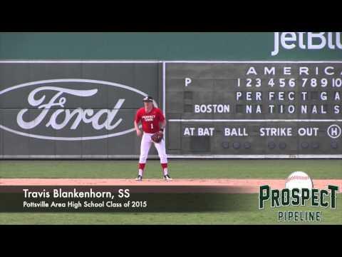 Travis Blankenhorn Prospect Video,SS, Pottsville Area High School Class of 2015 #mlbdraft