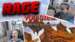 BIGGEST RAGE EVER! LOL Minecraft` Hypixel Skywars