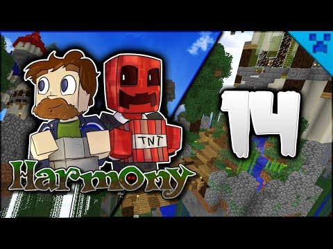 Minecraft Harmony | FINISHED Towers & Tower Entrance! | Multiplayer Modded Survival Episode 14