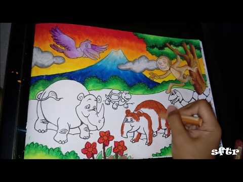 Tutorial Mewarnai Pemandangan Dengan Crayon 1 How To Color With