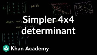 Simpler 4x4 determinant | Matrix transformations | Linear Algebra | Khan Academy thumbnail