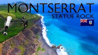 MONTSERRAT ~ Statue Rock ~ Best UAV Drone Caribbean ~ WeBeYachting.com