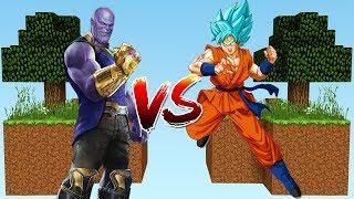 ILHA DO THANOS VS ILHA DO GOKU no MINECRAFT!! (DRAGON BALL SUPER)