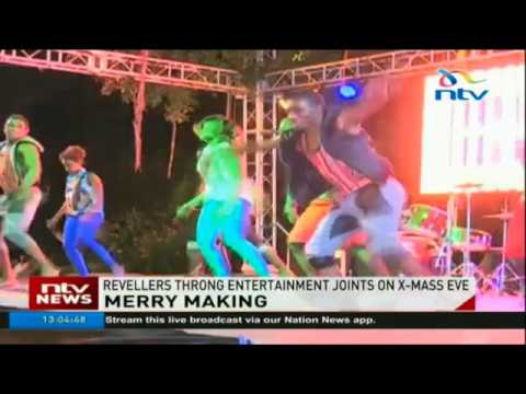 Revellers throng entertainment joints on Christmas Eve
