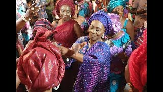 Funny See Kunle Afod 70-Yr-Old Mum Dancing Shaku Shaku At Her Birthday As Her Kids Sprays Her