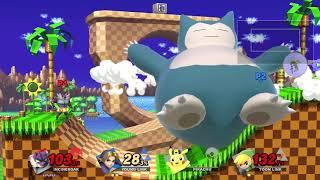 Super Smash Bros Ultimate - Incineroar vs Young Link