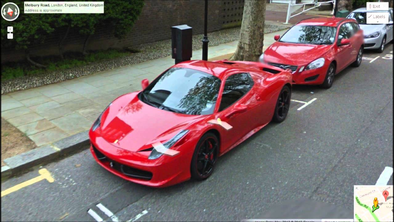 Supercar Spotting Google Streetview London Highlights Youtube