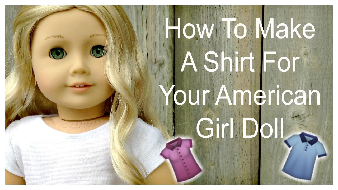 How to make a shirt for your american girl doll youtube jeuxipadfo Images