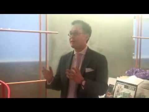 OVA Skin Care Launch Party:  Vision Speech by Dr. Sam Lam