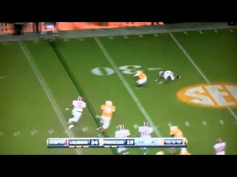 Tyler Bray vs. Alabama (2010)