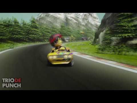 TRIO DE PUNCH reseña de MODNATION RACERS review