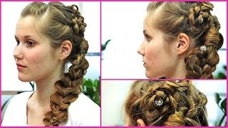 Вечерние прически из кос (плетение кос). Как делать прически в домашних условиях.