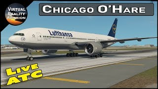 Chicago O'Hare Airport LANDING AND TAKEOFF   Live ATC   Airline Flight Schedules   X Plane 11 (2018)