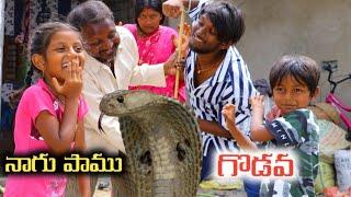 నాగుపాము కోసం గొడవ / Nagu Pamu Godava / Radha Videos / Maa Village Show
