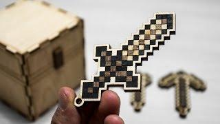 Как сделать брелок из Майнкрафт (алмазный меч, топор, кирка и лопата)?