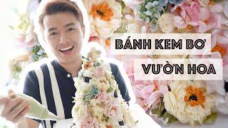 #02 Bánh Kem Bơ Hoa Lung Linh // Romantic Buttercream Flower Cake