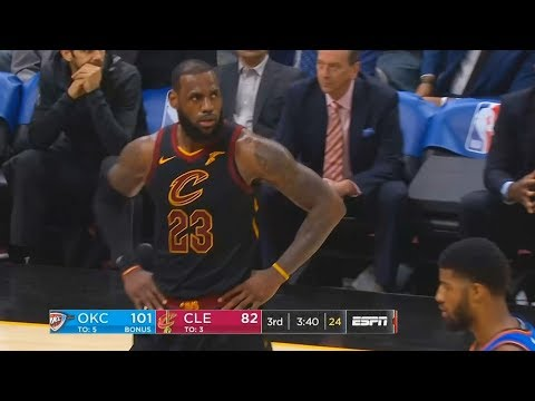 Download Youtube: LeBron James CAN'T BELIEVE PAUL GEORGE TRAVELED AND REFEREES DIDN'T SEE IT! Cavaliers vs Thunder