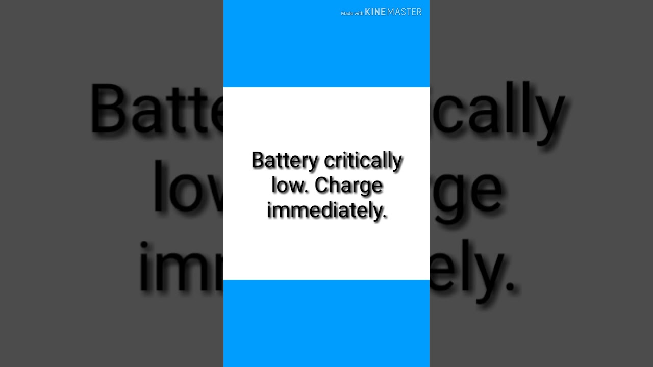 Sony Ericsson T280i Battery Low, Battery Critically Low