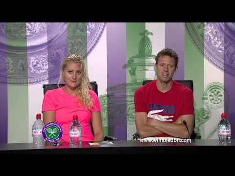 2013 Mixed Doubles champions Daniel Nestor and Kristina Mladenovic
