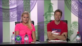Wimbledon: 2013 Mixed Doubles champions Daniel Nestor and Kristina Mlad