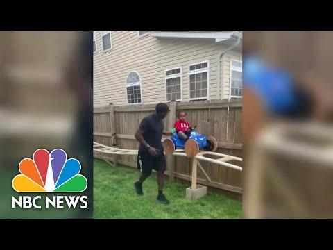 Families Make Creative Backyard Getaways While Staying At Home  NBC Nightly News