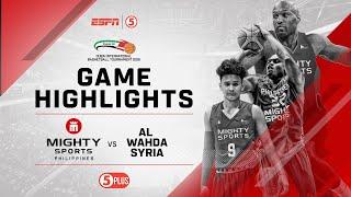 Highlights: Mighty Sports vs. Al Wahda Syria   2019 Dubai International Basketball Championship