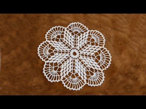 Вязание салфетки крючком пошагово