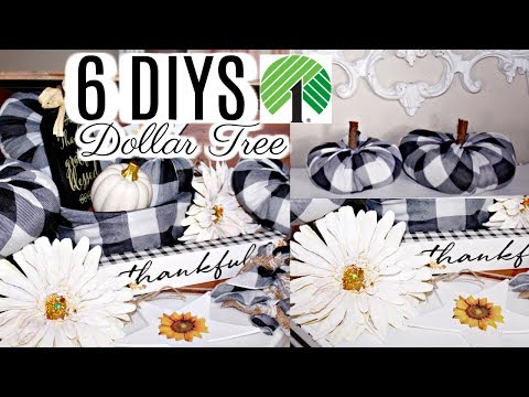 "🍁6 DIY DOLLAR TREE FALL DECOR CRAFTS 2019🍁""I LOVE FALL"" ep. 4 Olivia's Romantic Home DIY Tutorials"