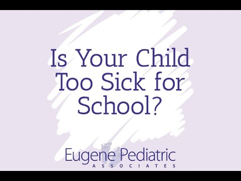 Is Your Child Too Sick for School?
