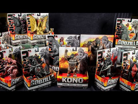 All Playmates Godzilla and Kong Toys Reviewed!