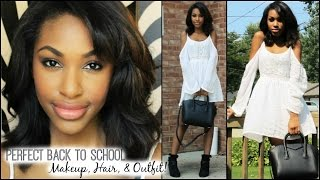 Perfect Back to School: Makeup, Hair, & Outfit! Thumbnail