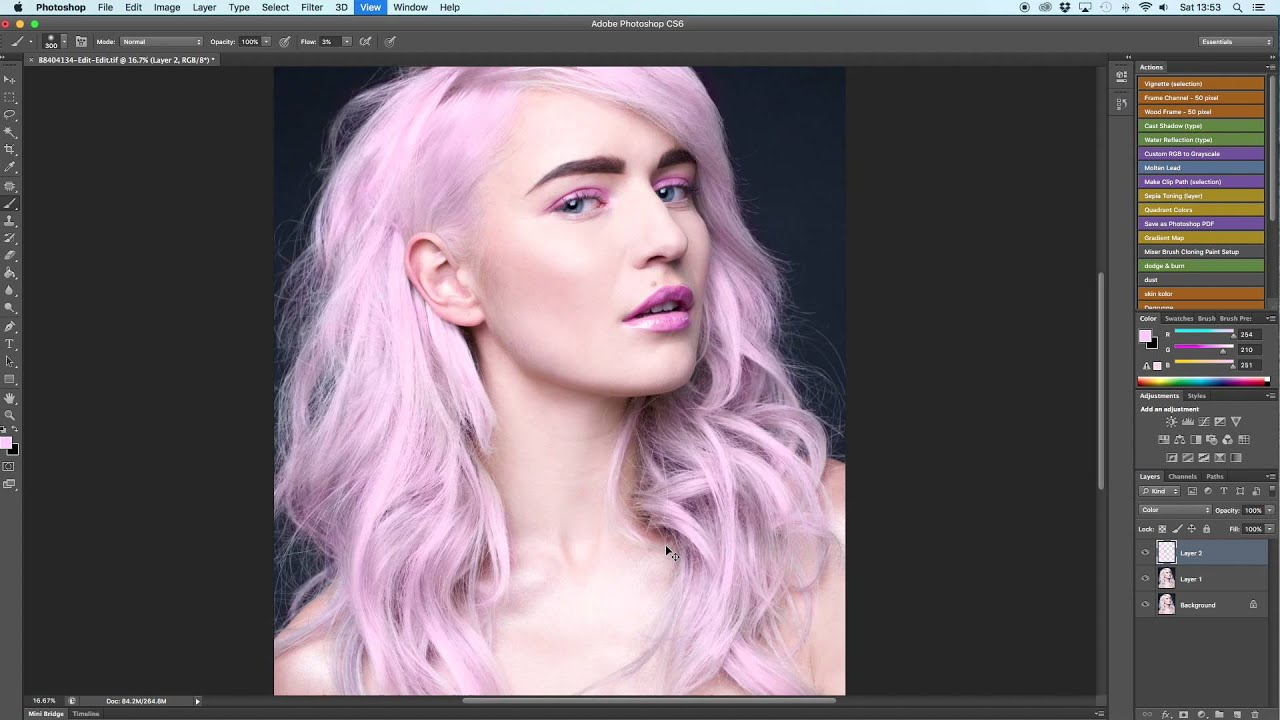 How To Change Hair Colour On Blonde Hair In Photoshop Youtube