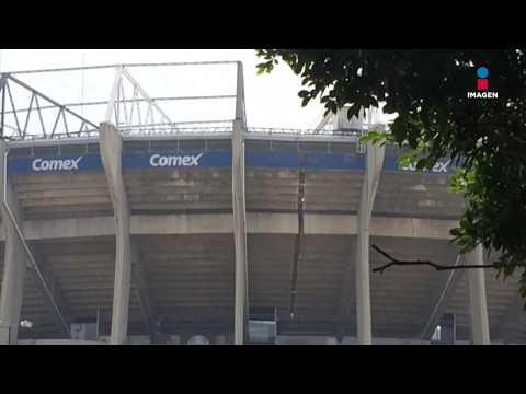 Estadio Azteca fracturado tras fuerte sismo