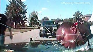 Polizeigewalt: Cop zertrümmert Autoscheibe mit Kopf