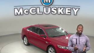 A10152YT Used 2012 Ford Taurus SEL FWD 4D Sedan Red Test Drive, Review, For Sale -