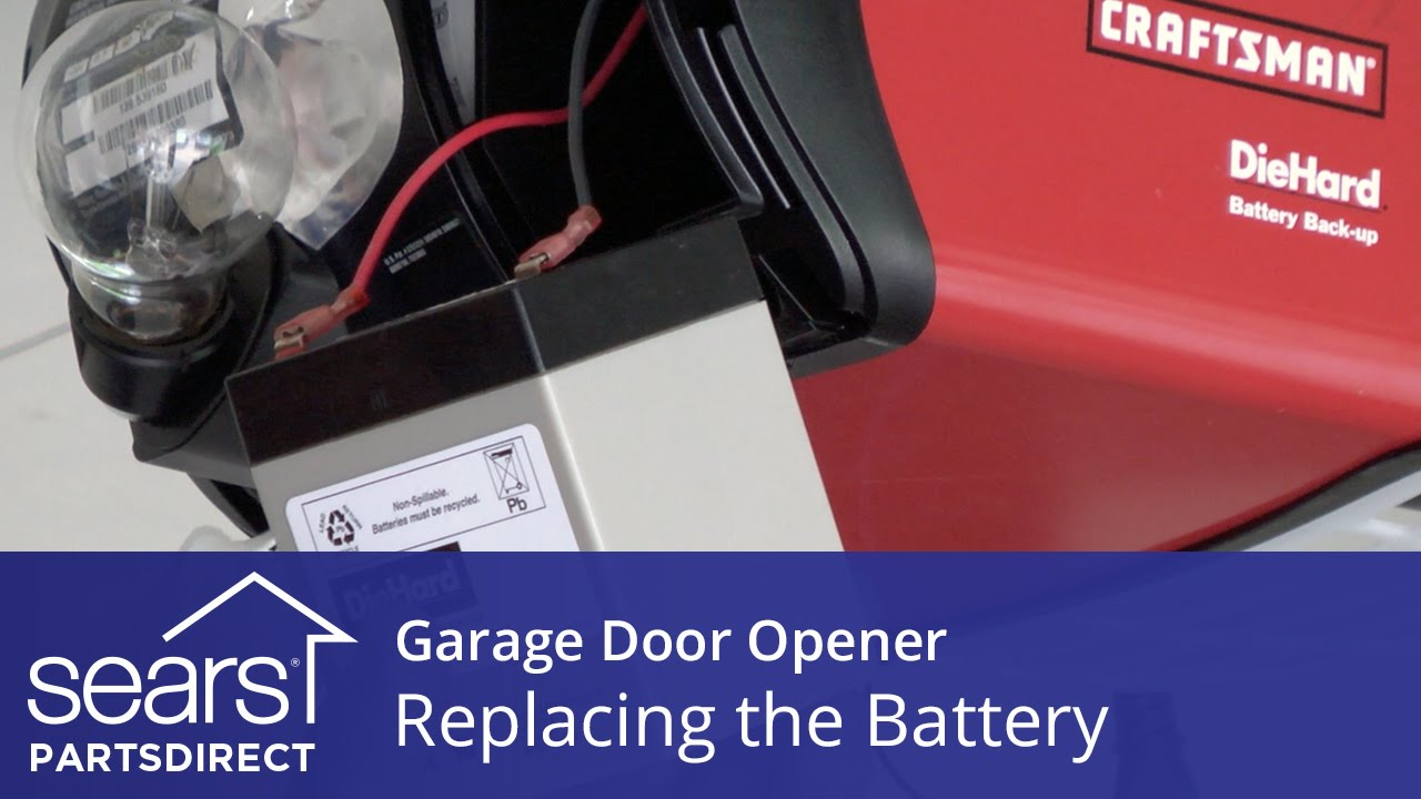 Replacing The Battery On A Garage Door Opener Youtube