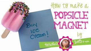 Popsicle Magnet Craft DIY - 3D Foam Craft