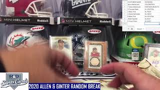 R and D Sports Cards 2020 ALLEN & GNTER BREAK