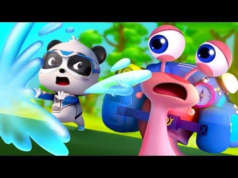 Super Panda Rescues Snail | Baby Shark, Police Cartoon | Kids Cartoon | Baby Cartoon | BabyBus