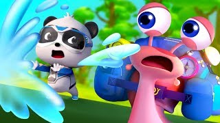 Super Panda Rescues Snail | Baby Shark, Police Cartoon | Kids Cartoon | Baby Cartoon | BabyBus