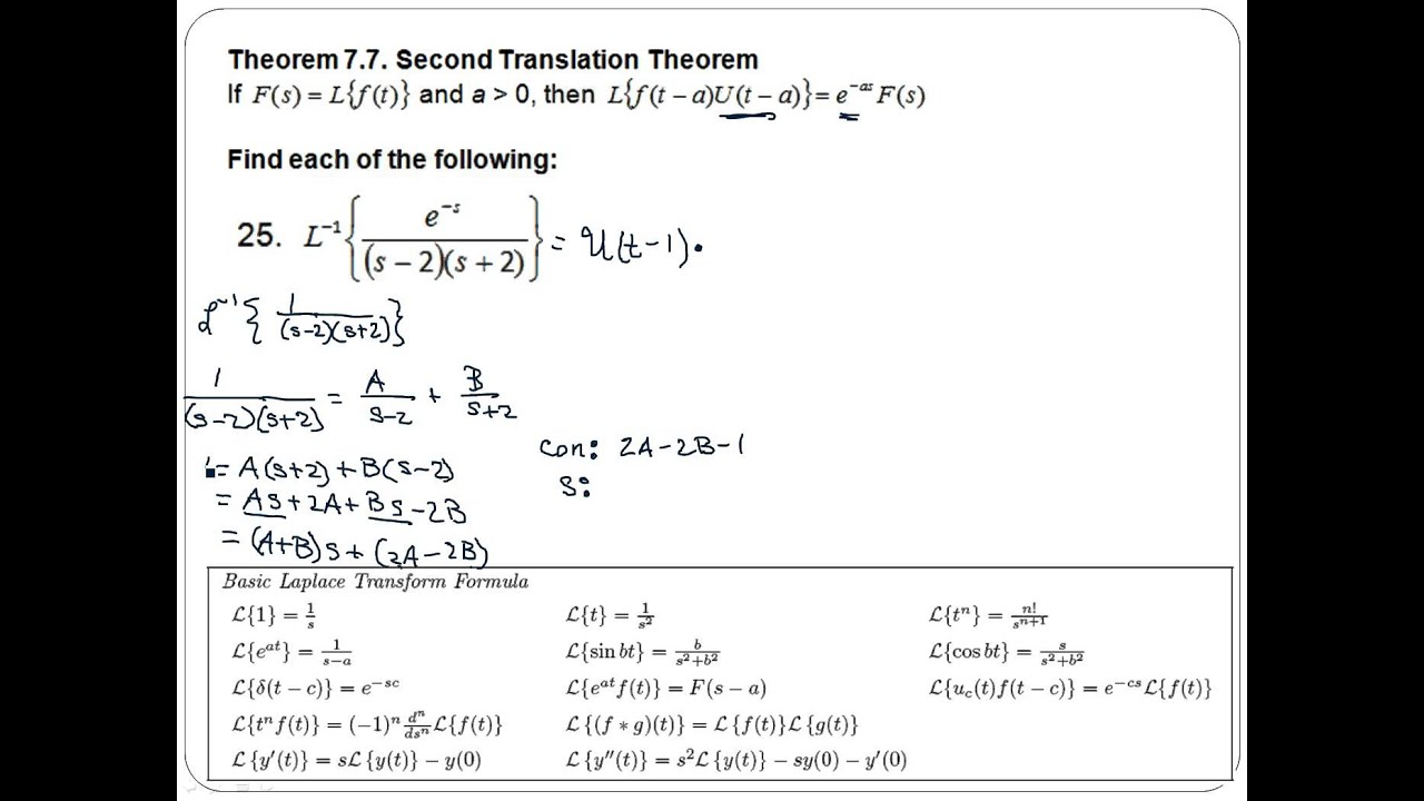 Differential Equations Worksheet 9 25 YouTube – Differential Equations Worksheet