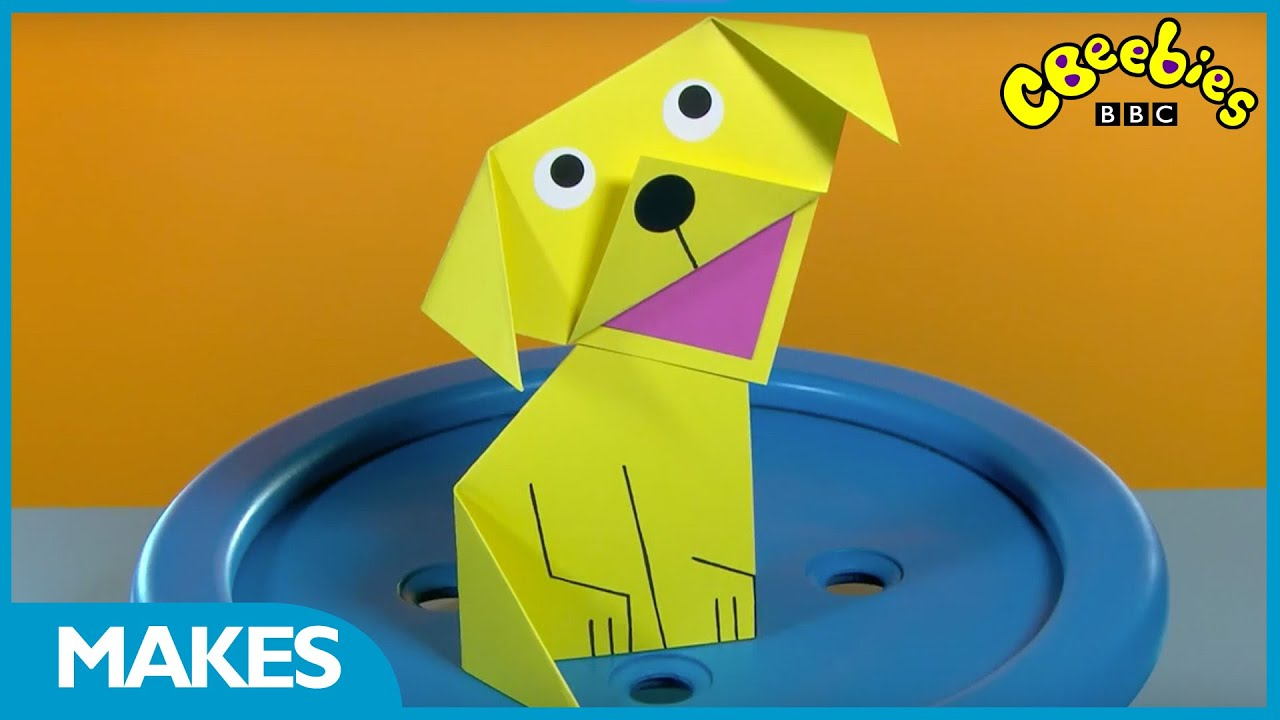 cbeebies makes cute origami paper puppy youtube