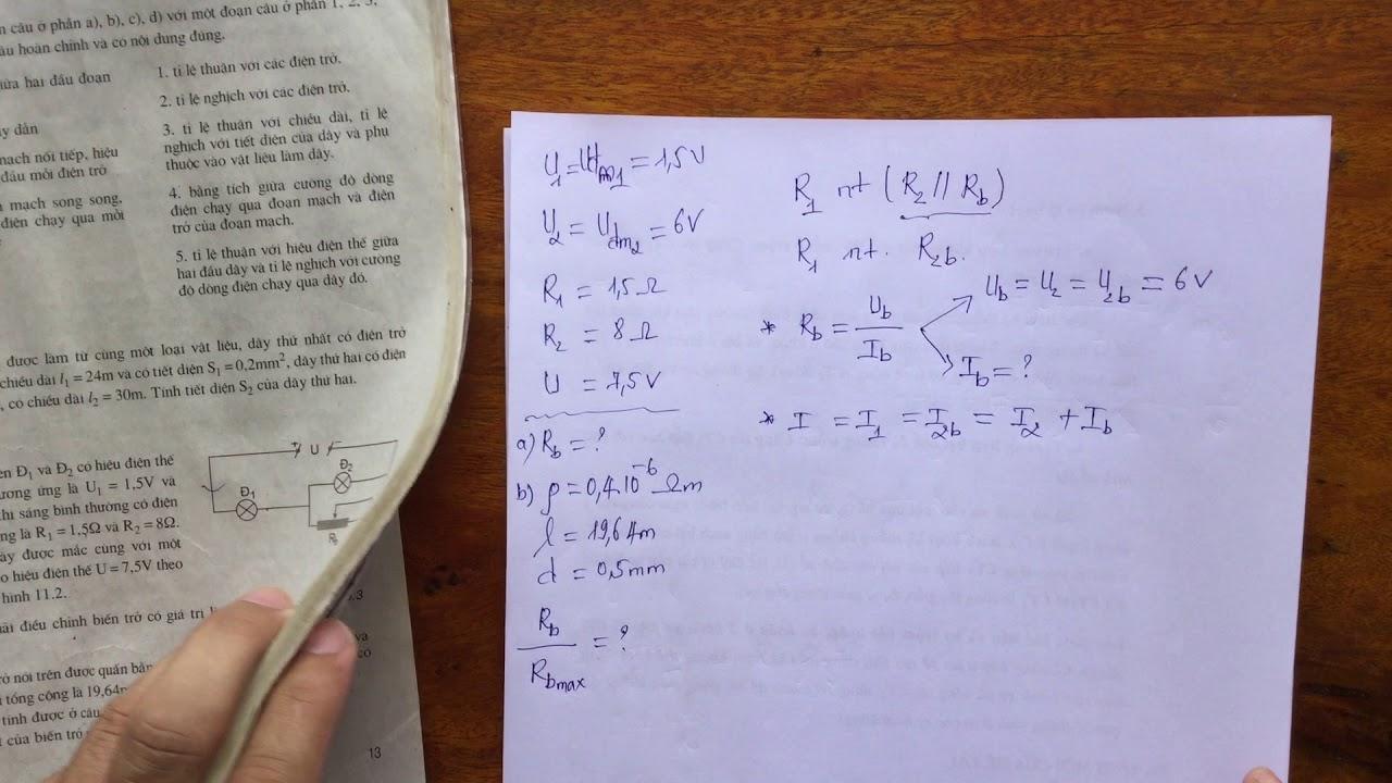 [Vật lí 9] Bài tập SBT bài 11 Bài 11.9
