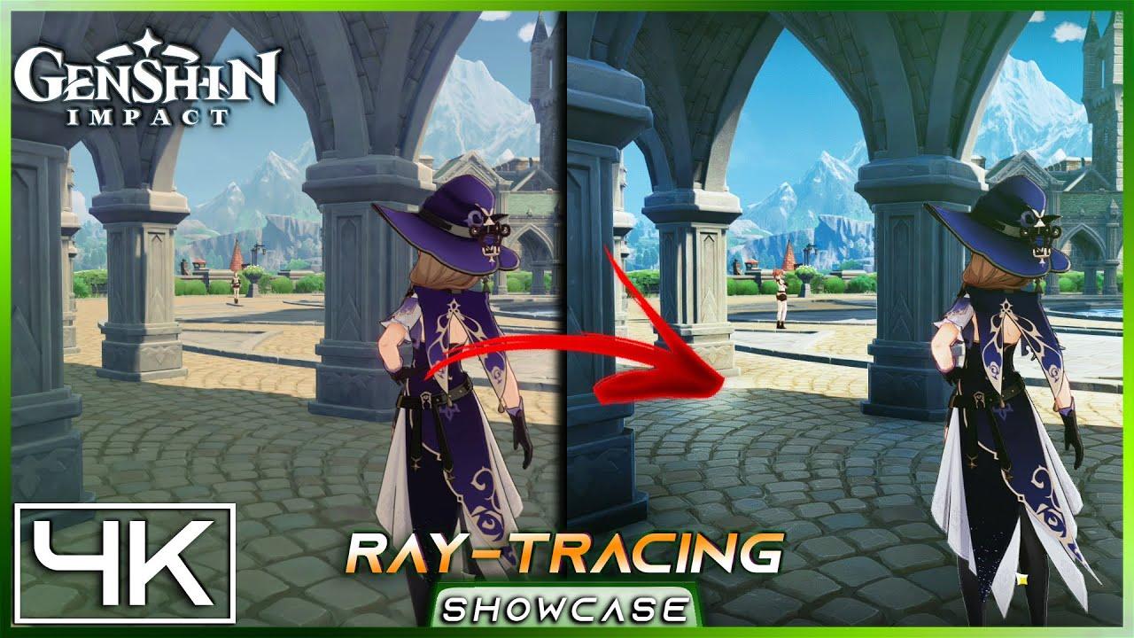 4k Genshin Impact Ray Tracing Graphics Mod Ultra Graphics Comparison Gameplay Reshade Youtube