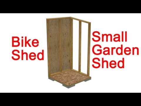 Small Garden Shed Or Bike Shed Construction Details