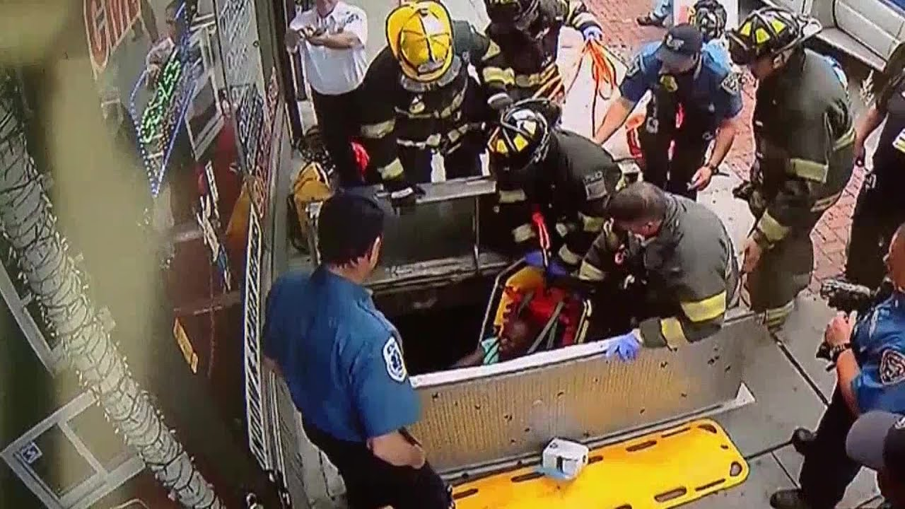 VIDEO Woman on phone falls down open sidewalk cellar door & VIDEO: Woman on phone falls down open sidewalk cellar door - YouTube pezcame.com